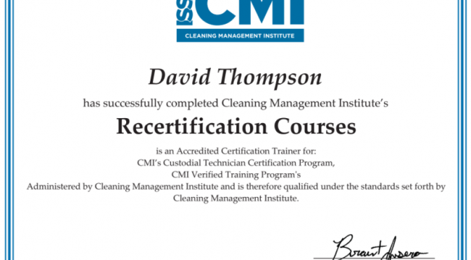 Accredited Industry Certifications